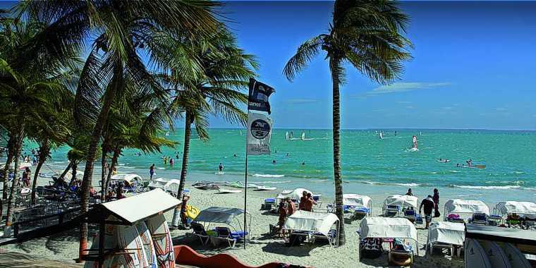 Donde esta Playa El Yaque en Isla Margarita. Ubicacion de Playa El Yaque