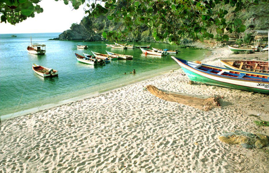 Donde esta Playa Manzanillo en Isla Margarita. Ubicacion de Playa Manzanillo