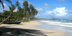 Mapa de los hoteles en Playa El Agua, Isla Margarita