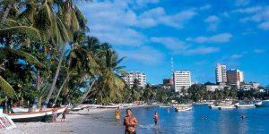 Mapa de los hoteles en Playa Pampatar