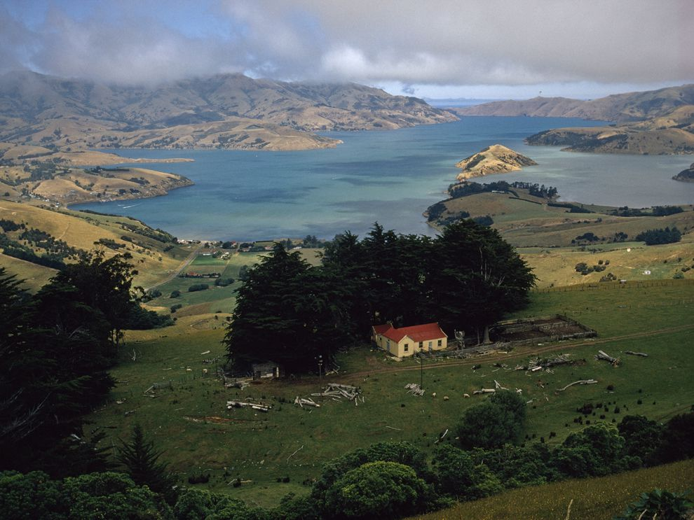 Viajar a Islas: Puerto de Akaroa, Isla del Sur, Nueva Zelanda