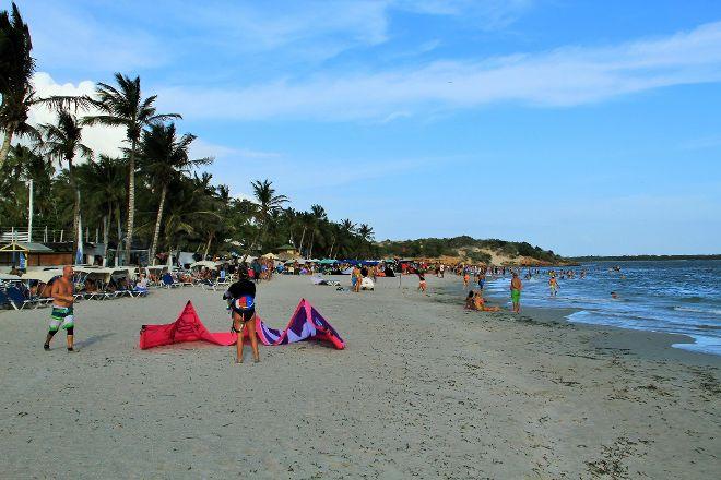Playa El Yaque en Isla Margarita