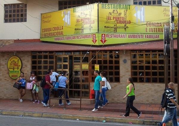 Restaurant El Punto Criollo en Isla Margarita