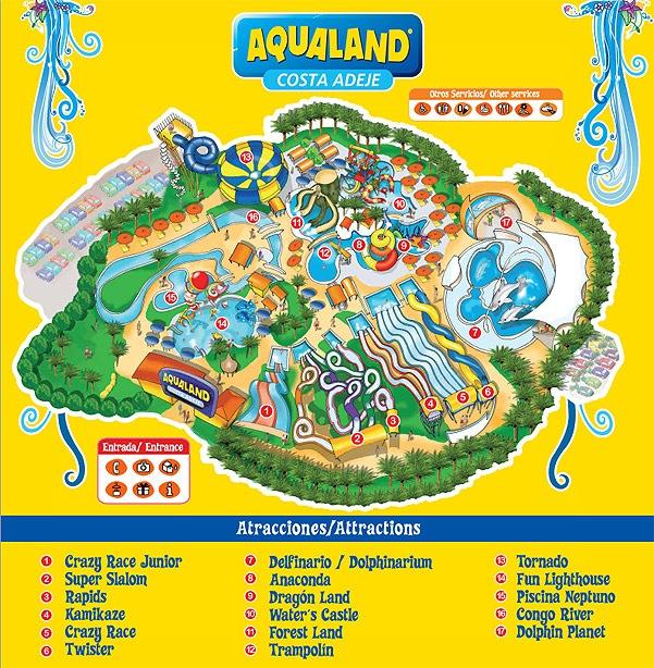 Tenerife con niños: Plano Aqualand Costa Adeje Tenerife