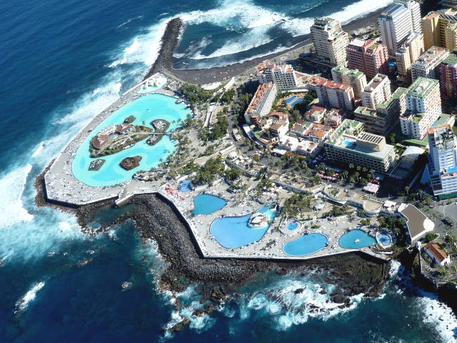Tenerife con niños: panoramica lago martianez tenerife