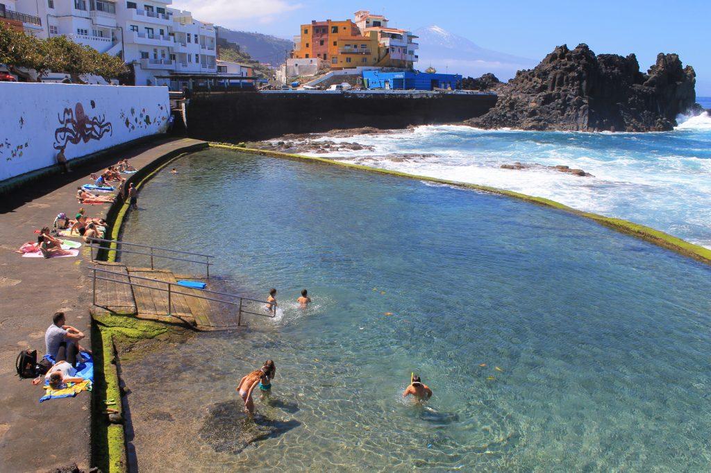Playas de Tenerife: Playa El Pris Piscina Natural de El Pris Tacoronte Tenerife