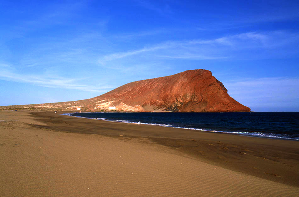 Playas de Tenerife: Playa Montaña Roja El Medano Granadilla de Abona Tenerife