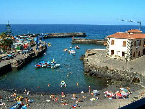 Playas de Tenerife: Playa del Muelle Puerto de la Cruz Tenerife