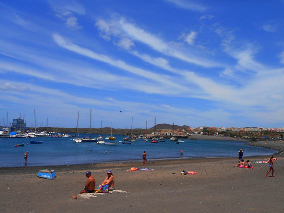 Playas de Tenerife: Playa las Galletas Arona Tenerife