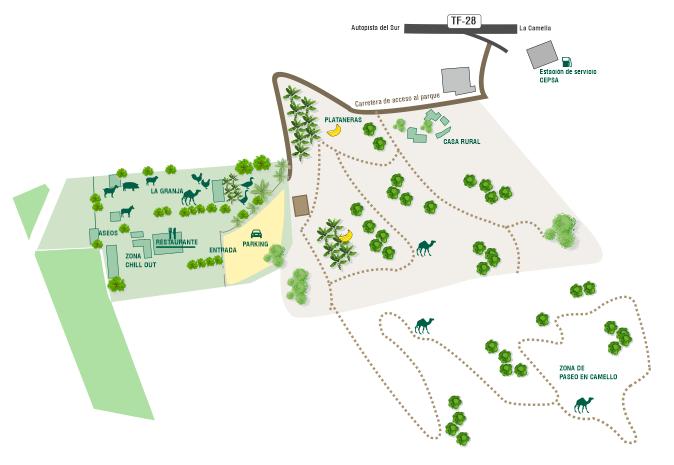 Tenerife con niños: plano de Camel Park en Tenerife